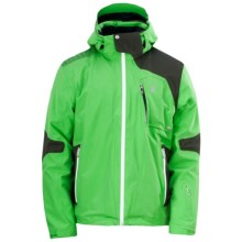 Spyder Cosmos Jacket - Waterproof, Insulated (For Men) in Classic Green/Peat/White - Closeouts