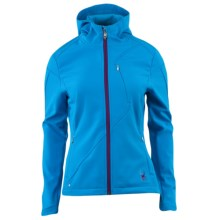 Spyder Courmayeur Hooded Jacket - Soft Shell (For Women) in Coast/Gypsy - Closeouts