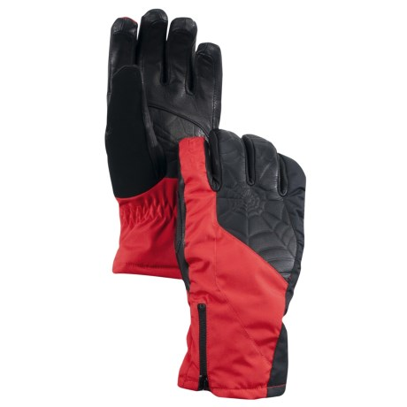 Spyder Crucial Gore-Tex® Ski Gloves - Waterproof, Insulated (For Men) in Red