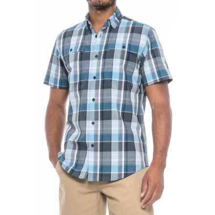 Spyder Crucial Shirt - Short Sleeve (For Men) in French Blue Plaid - Closeouts