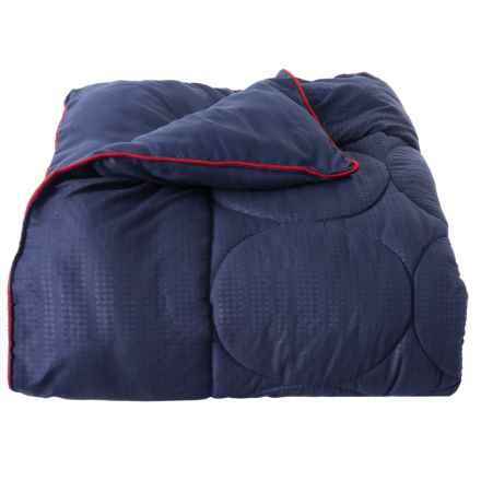 Spyder Depth Blue-Red Down-Alternative Blanket - King in Depth Blue/Red - Closeouts