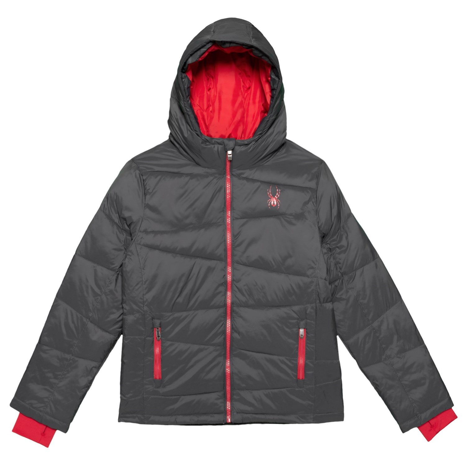 Spyder Down Jacket with Pockets Insulated, Full Zip (For Big Boys)