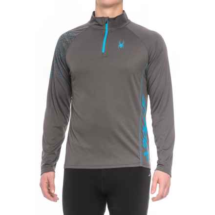 Spyder DryWEB Running Shirt - Zip Neck, Long Sleeve (For Men) in Polar - Closeouts