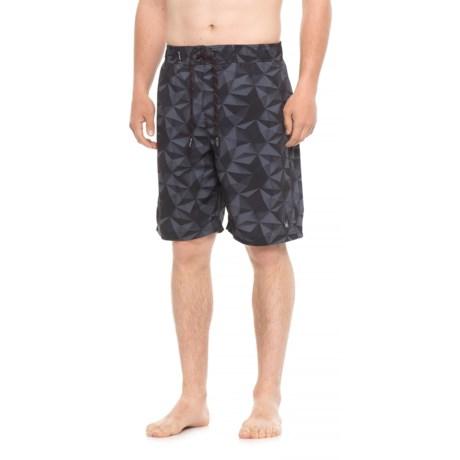 Spyder Eboard Geo Print Boardshorts - Neutral (For Men) in Black