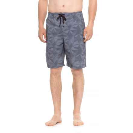 Spyder Eboard Geo Print Boardshorts - Neutral (For Men) in Silver - Closeouts