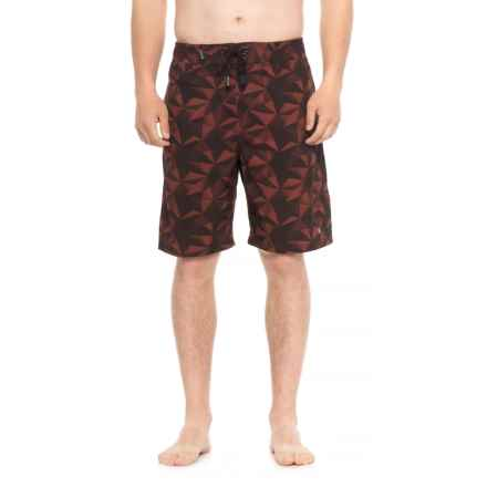 Spyder Eboard Geo Print Boardshorts - Red (For Men) in Red - Closeouts