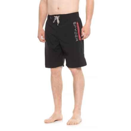 Spyder Eboard Logo Boardshorts - Black (For Men) in Black - Closeouts