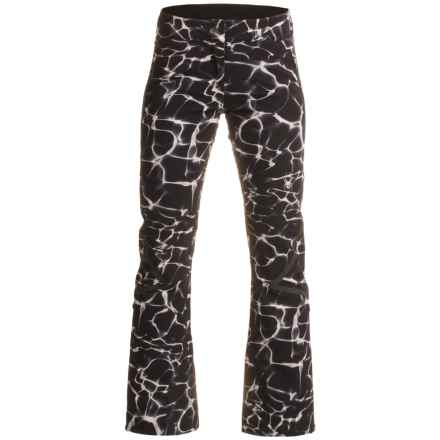 Spyder Echo Tailored Ski Pants - Waterproof, Insulated (For Women) in Waves Black Print/Black - Closeouts