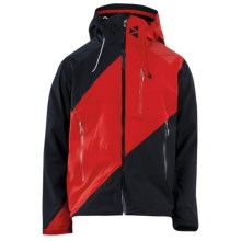 Spyder Eiger Jacket - Waterproof, Soft Shell (For Men) in Black/Volcano/Volcano - Closeouts