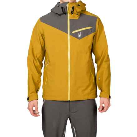 Spyder Eiger Shell Jacket - Waterproof (For Men) in Brazen/Polar/Sun - Closeouts