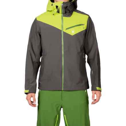 Spyder Eiger Shell Jacket - Waterproof (For Men) in Polar/Theory Green/Mountain Top - Closeouts
