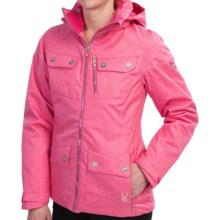 Spyder Evar Ski Jacket - Insulated (For Women) in Girlfriend Crosshatch - Closeouts