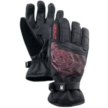 Spyder Excel Ski Gloves (For Men) in Black/Red - Closeouts
