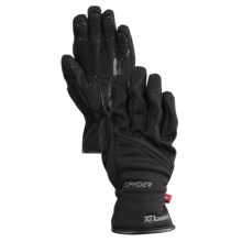 Spyder Facer Ski Gloves - Microfleece, Windproof (For Boys) in Black - Closeouts