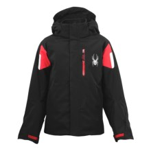Spyder Fang 3-in-1 Core System Jacket (For Boys) in Black/Red/White - Closeouts
