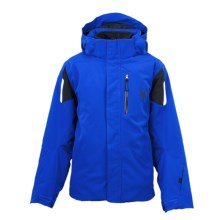 Spyder Fang 3-in-1 Core System Jacket (For Boys) in Just Blue/Black/White - Closeouts