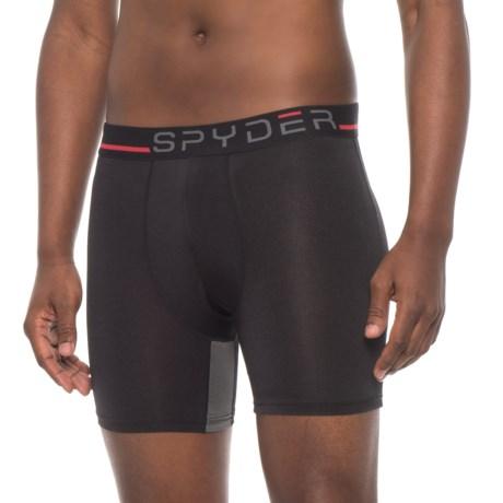 """Spyder Fashion Hanging Boxer Briefs - 9"""" (For Men) in Black"""