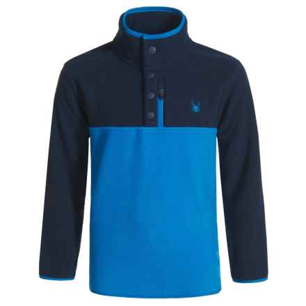 Spyder Fleece Pullover Shirt - Long Sleeve (For Kids) in Frontier - Closeouts