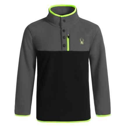 Spyder Fleece Pullover Shirt - Long Sleeve (For Kids) in Polar - Closeouts