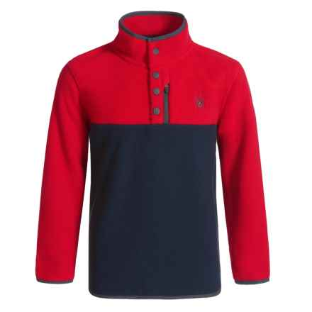 Spyder Fleece Pullover Shirt - Long Sleeve (For Kids) in Racing Red - Closeouts