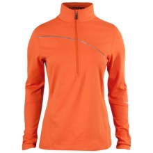 Spyder Flicker Turtleneck - Zip Neck, Long Sleeve (For Women) in Heat - Closeouts