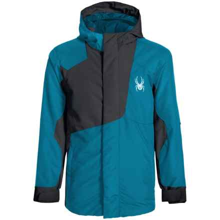 Spyder Flyte Color-Block Jacket - Waterproof, Insulated (For Big Boys) in Concept Blue/Black - Closeouts
