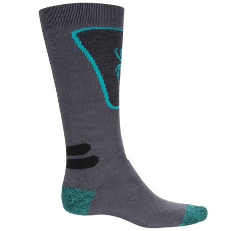 Spyder Full Cushion Ski Socks - Over the Calf (For Youth) in Gray Multi