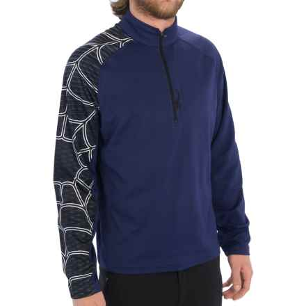Spyder Gate Zip T-Neck Shirt - Long Sleeve (For Men) in Space - Closeouts