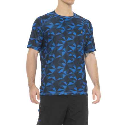 Spyder Geo Print Color Rash Guard - Short Sleeve (For Men) in Navy - Closeouts