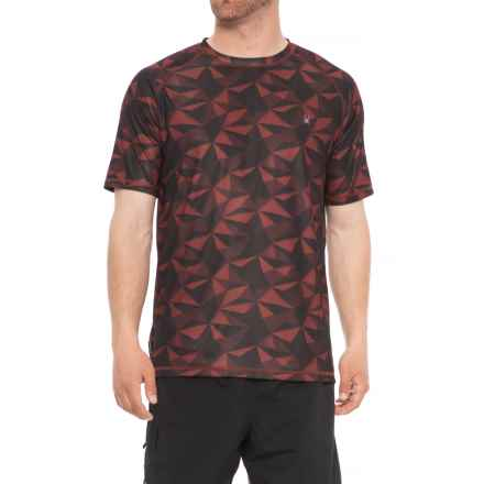 Spyder Geo Print Color Rash Guard - Short Sleeve (For Men) in Red - Closeouts