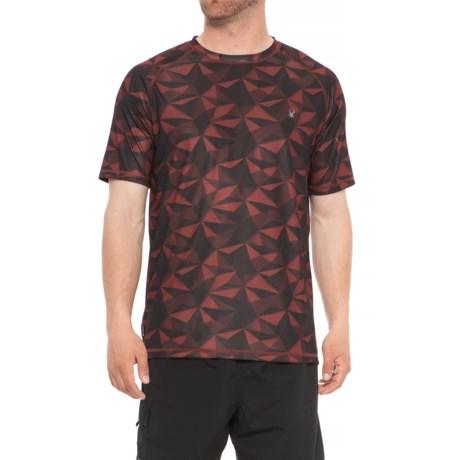Spyder Geo Print Color Rash Guard - Short Sleeve (For Men) in Red