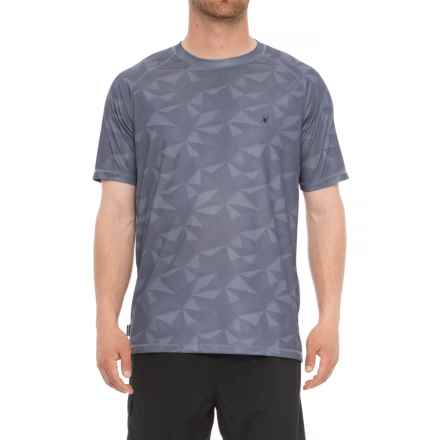 Spyder Geo Print Neutral Rash Guard - Short Sleeve (For Men) in Grey - Closeouts
