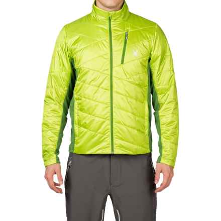 Spyder Glissade PrimaLoft® Ski Jacket - Insulated (For Men) in Theory Green/Mountain Top/Mountain Top - Closeouts