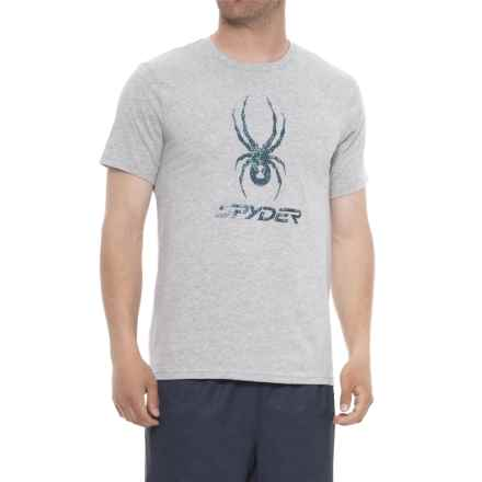 Spyder Graphic T-Shirt - Short Sleeve (For Men) in Alloy Heather - Closeouts