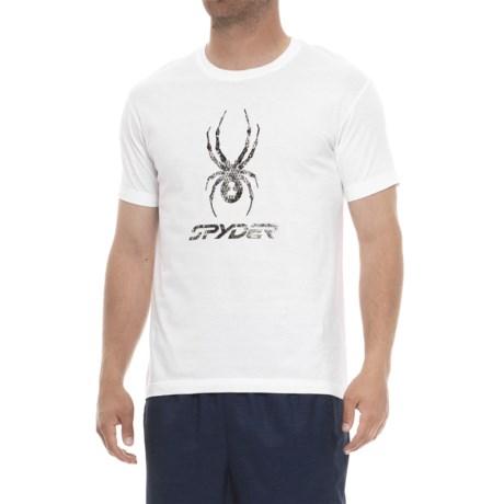 ae39494b16e Spyder Graphic T-Shirt - Short Sleeve (For Men) in White Black