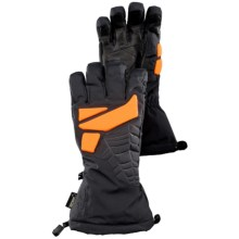 Spyder GT Gore-Tex® Ski Gloves - Waterproof (For Men) in Black/Bright Orange - Closeouts
