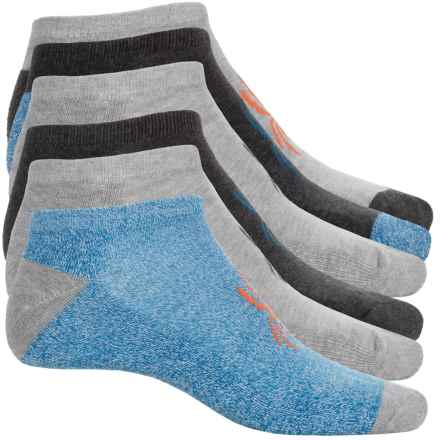 Spyder Half Cushion No-Show Socks - 6-Pack, Below the Ankle (For Big Boys) in Blue/Grey/Charcoals - Closeouts