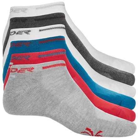 Spyder Half Cushion No-Show Socks - 6-Pack, Below the Ankle (For Big Boys) in Red/White/Blue/Greys - Closeouts