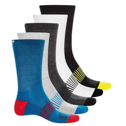 Spyder Half Cushion Socks - 5-Pack, Crew (For Big Boys) in Blue - Closeouts