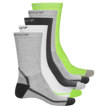 Spyder Half Cushion Socks - 5-Pack, Crew (For Big Boys) in Grey - Closeouts