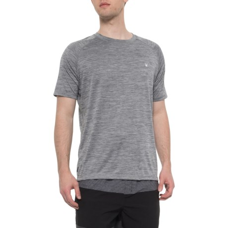 43d98cdedc Spyder Heather Grey Hydro Series Loose Fit Rash Guard - Short Sleeve (For  Men). Click to expand