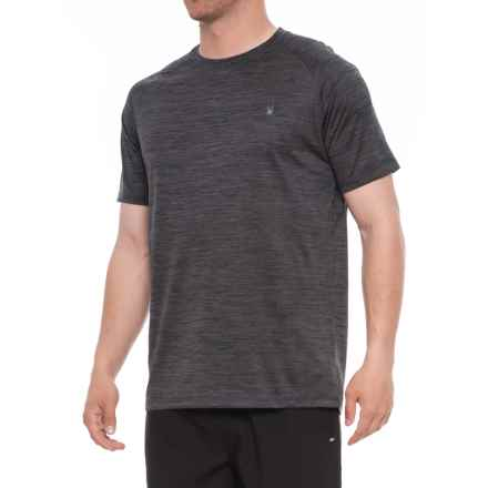 Spyder Heathered Neutral Rash Guard - Short Sleeve (For Men) in Grey/Black - Closeouts