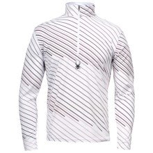 Spyder Ice Pick Dry W.E.B. Base Layer Top - Lightweight, Zip Neck, Long Sleeve (For Men) in White/Volcano - Closeouts