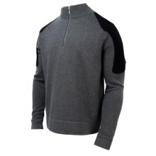 Spyder Icon Sweater - Zip Neck (For Men) in Slate/Black/Slate - Closeouts