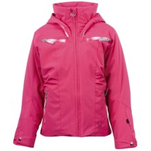 Spyder Knockout Jacket - Insulated (For Girls) in Diva Pink/Diva Pink V Speedlines - Closeouts