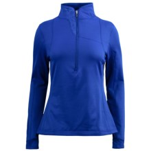 Spyder Lapis Turtleneck Pullover - Fleece, Zip Neck, Long Sleeve (For Women) in Blue My Mind - Closeouts