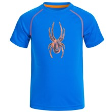 Spyder Large Logo Shirt - Short Sleeve (For Little Boys) in Blue - Closeouts