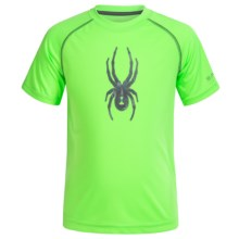 Spyder Large Logo Shirt - Short Sleeve (For Little Boys) in Green - Closeouts