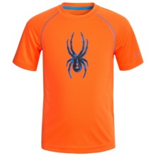 Spyder Large Logo Shirt - Short Sleeve (For Little Boys) in Orange - Closeouts