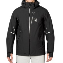 Spyder Leader Thinsulate® Ski Jacket - Waterproof, Insulated (For Men) in Black/Black/Black - Closeouts